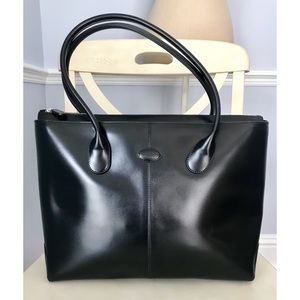 Authentic Tod's Large Leather Tote
